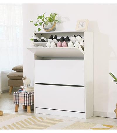 Tủ giày thông minh 3 ngăn trắng