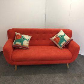 sofa văng màu cam