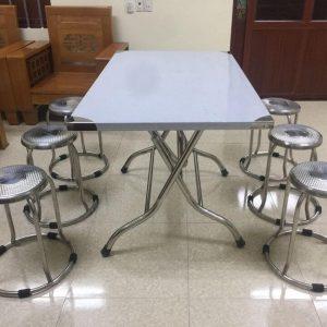 bàn ăn inox 6 ghế
