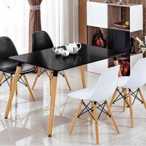 bàn ăn J1 4 ghế đen