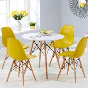 bàn ăn rio 4 ghế vàng