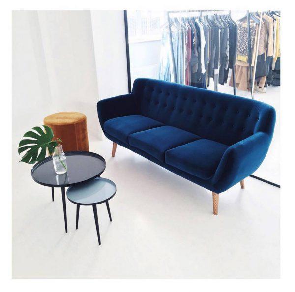 bộ sofa phòng làm việc xanh luxury