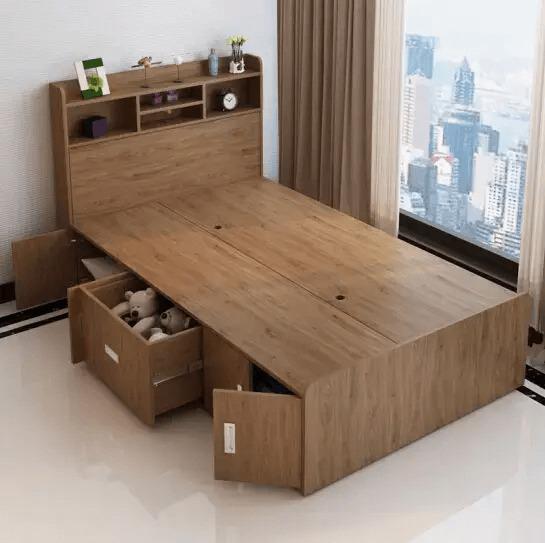 Giường hộp có ngăn kéo to